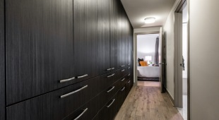 Custom closet built-ins provide plenty of storage space.for our apartments in Tysons, VA.