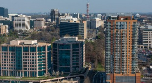 A view from Adaire's rooftop of the surrounding Tysons Corner area.