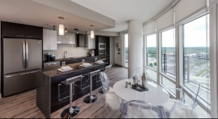 Our Tysons apartments have floor-to-ceiling windows for an abundance of natural light.