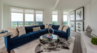 Lush living spaces and breathtaking views are standard features of our Tysons apartments.