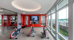 Residents of our Tysons Corner VA apartments can get a good cardio workout on the exercise bikes.